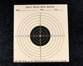 Vintage Daily Pellet Rifle Match Practice Target c.1970s (6 x 7 inches) - Collectible, Home Decor, Paper Projects, and more