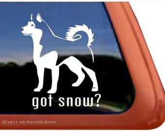 Got Snow? | DC306GOT | High Quality Adhesive Alaskan Malamute Dog Vinyl Window Decal Sticker
