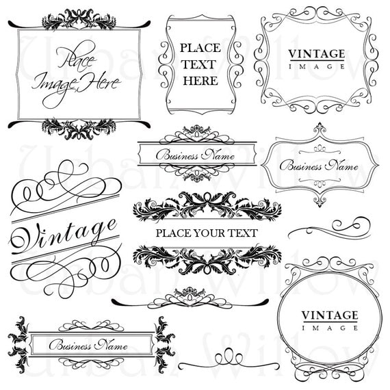 Items Similar To ORNAMENTAL VINTAGE FRAMES 6