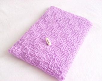 iPad Case Galaxy Case, Floral Crochet iPad Case, Garden iPad Sleeve, Tablet Case handmade