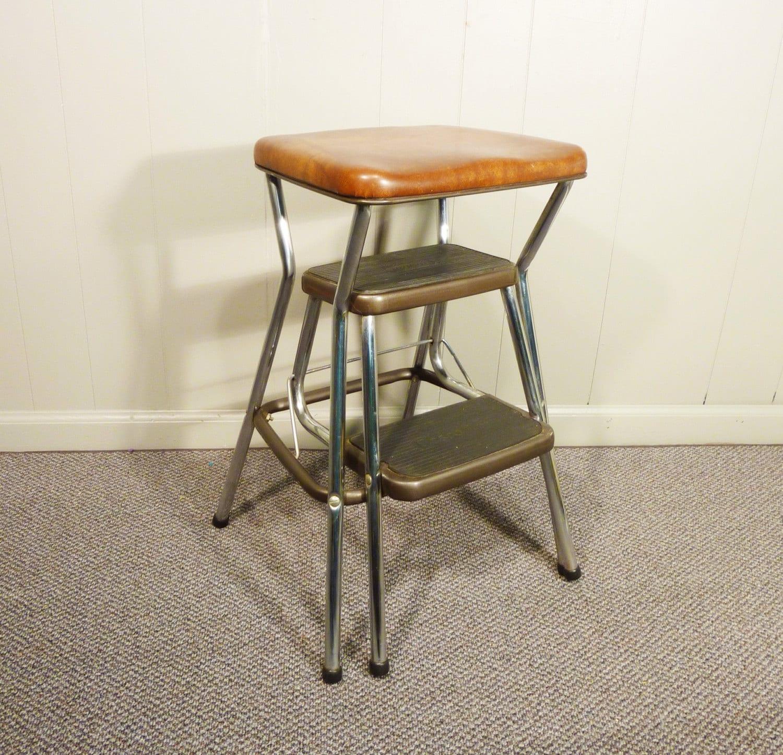 Retro 50s Vintage Step Stool Kitchen Chair Cosco