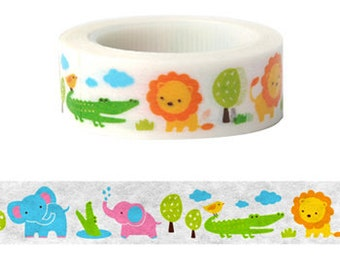 Kids Animal Washi Tape (10M) - 9327907