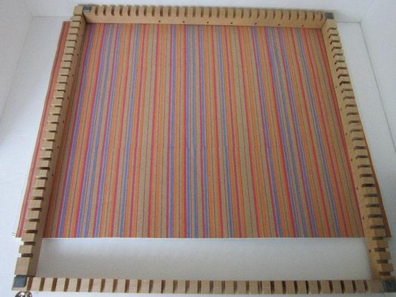 Large Wood Waffle Weaving Loom