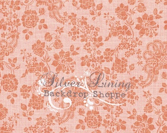 NEW Item 5ft x 6ft Vinyl Photography Backdrop / Pocket of Vine Pink
