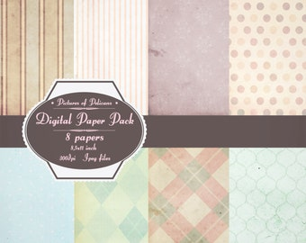 shabby chic digital textured paper Shabby Chic style background paper printables