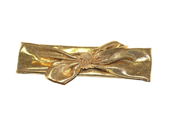 NEW 2013 - METALLIC GOLD Wrap Collection - head wrap/scarf / headband / adult / spring / summer / nautical
