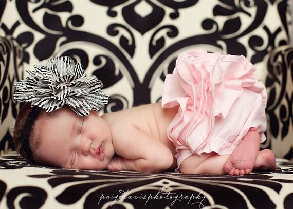 XL Chiffon Custom Stripes Collection on Black elastic -  christmas, photo shoot, newborn, baby girl accessory woman child