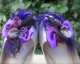 Wedding Shoe clips Violet dream