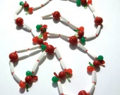 Lucite Fruit Necklace Cherries