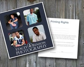 INSTANT DOWNLOAD : Photographer Printing Rights Digital Template