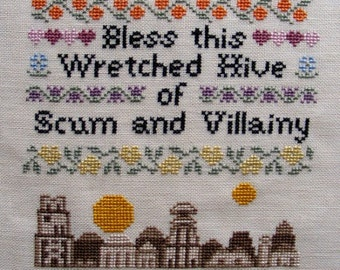 Bless This House - Mos Eisley Edition Cross-Stitch Pattern