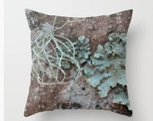 Rustic Decor, Moss Tree, Throw Pillow, Woodland Decor, Country Home, Farmhouse Syle, Living Room