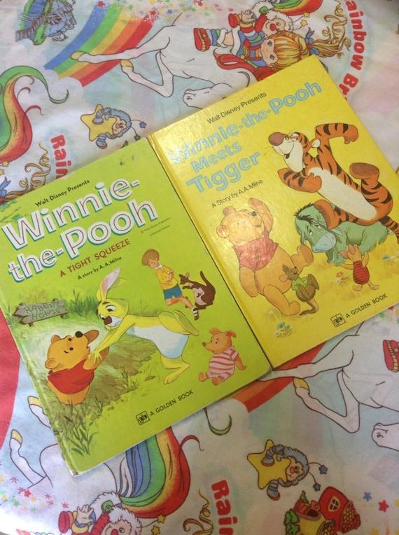 Vintage 1970's Winnie the Pooh Hardcover books Walt Disney