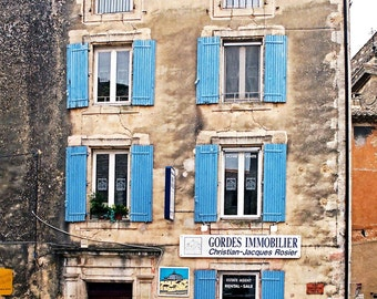 Fine Art Photograph of a Real Estate Office in Gorde France.  This is part of my French Connection Series