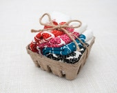 Set of Four Flour Sack Mixed Berry Basket Napkins