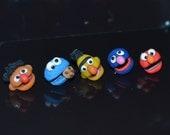 Sesame street post earrings - you choose style