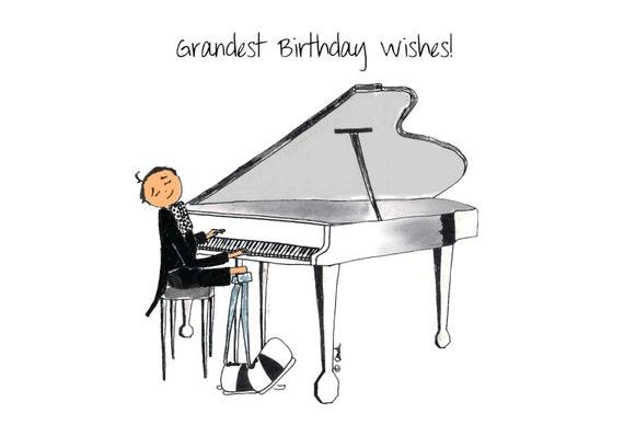 Открытка с днём рождения пианисту 37