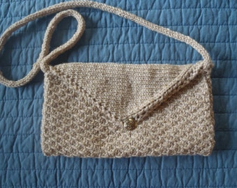 Knit Clutch Purse w/optional Handle Pattern