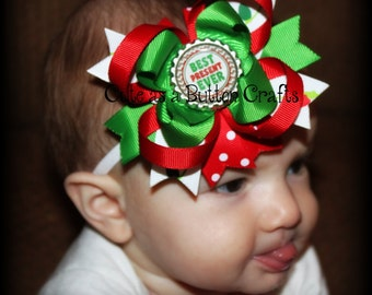 Baby Christmas headband Perfect your baby's first Christmas. Christmas bow also available in an alligator clip