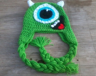 Monsters INC. Mike Wazowski Crocheted Hat