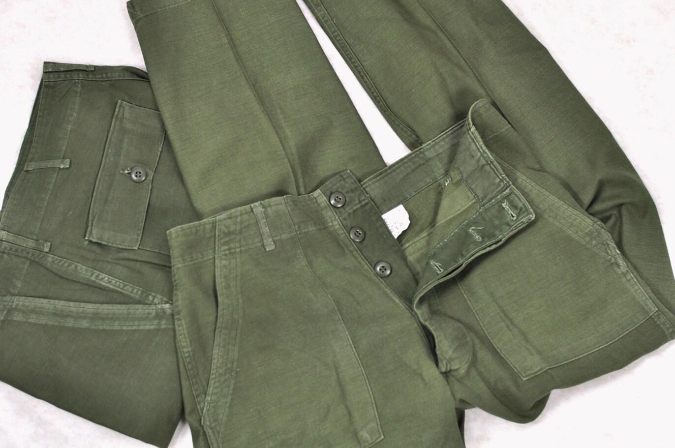 Vintage U S Army Mens Pants Green Vietnam War By