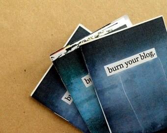 Burn Your Blog zine