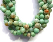 Sea Foam Agate - Faceted 8mm Round - Full Strand - 47 beads