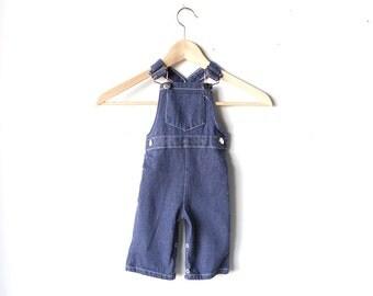 vintage boys overalls DENIM kids BLUE Jean overalls BABY toddler children's