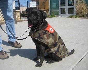 CUSTOM Size & Print Fleece Dog COAT - Large to Extra Large