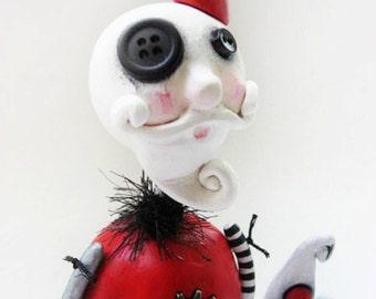 Steampunk Christmas - Steampunk Santa - Santa Art Doll - Steampunk Art - Made To Order