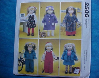 McCalls Crafts American Girl Pattern M2506.