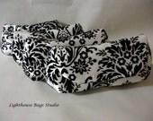 Bridesmaid-Wedding Clutch - Black Damask on White Set of 5