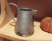 SALE - Old rusty pitcher - miniature 1:12 scale for dollhouse