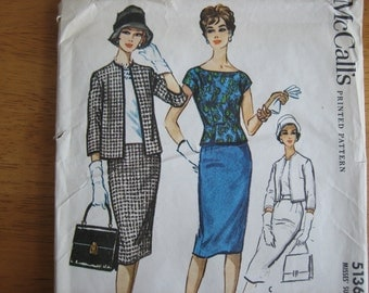 McCall's Pattern 5136 Misses' Suit and Blouse    1959