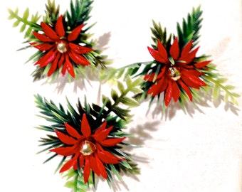 Poinsettia Christmas Holiday Novelty Bakery Picks