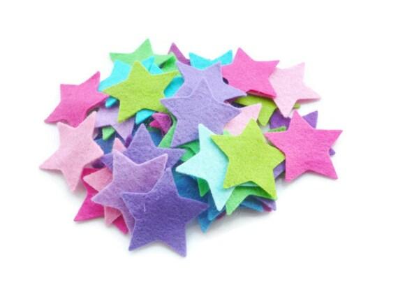Felt star shapes craft supply felt star arts and crafts die for Felt arts and crafts