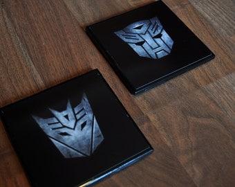 Autobot / Decepticon Transformer Ceramic Coasters