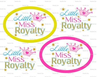 "DIY Printable ""Little Miss Royalty"" Shrinkable Digital Images (JPEG File)"