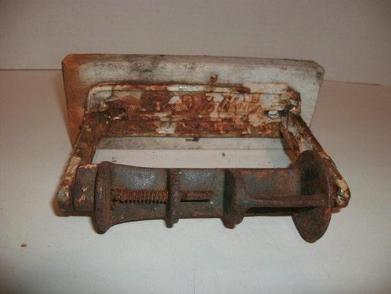 Vintage Cast Iron Palmer 39 S No Waste Toilet Tissue Paper