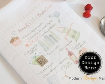 "1 ""YOUR DESIGN"" Tea Towel- Your logo Towel - Your Design- Floursack Kitchen Towels - Dish Towel - Tea Towel"