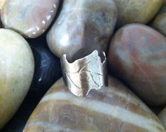 Leaf Ring in Sterling Silver  Adjustable