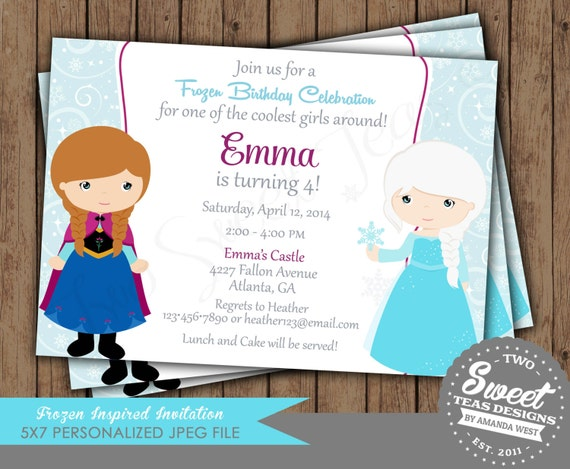 Elsa Party Invitations for luxury invitations example