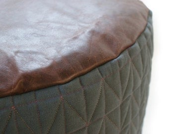 Geometric Quilted pouffe.