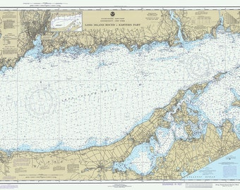 1980 Nautical Chart of Long Island Sound