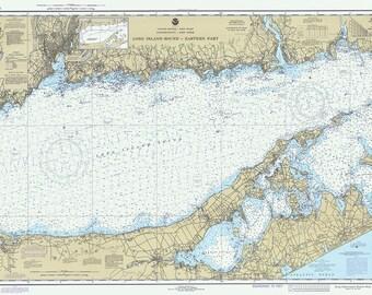 1980 Nautical Chart of Long Island Sound