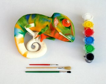 DIY Chameleon, stuffed animal for creative ones