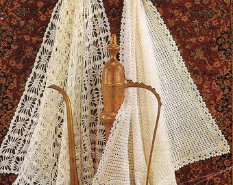 VKNC 400 Beautiful crochet  shawls /   Afghan  Throw Crochet Pattern  - PDF -  Instant download