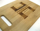 Cutting Board - Personalized Cutting Board - Custom Laser Engraved Bamboo Cutting Board  - Family Name Bamboo Cutting Board