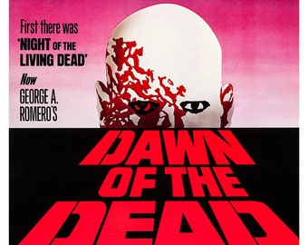 "Dawn of the Dead - Horror Movie Poster Print  13""x19"" - Vintage Movie Poster - George Romero -  Zombies"