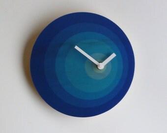 Objectify Orbit Blue Wall Clock
